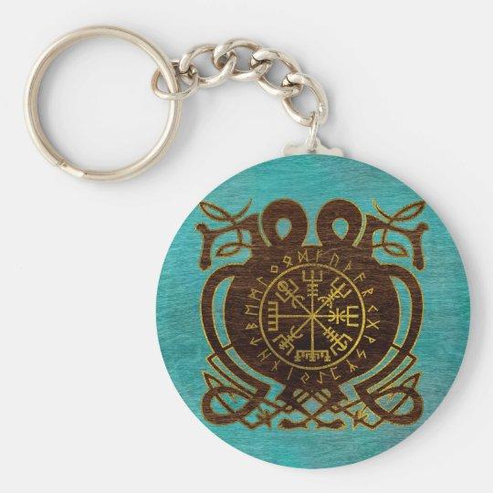 Vegvisir - Viking  Navigation Compass Keychain