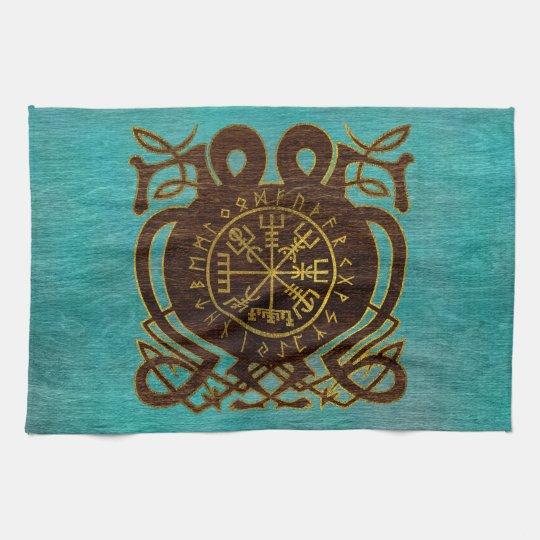 Vegvisir - Viking  Navigation Compass Kitchen Towel
