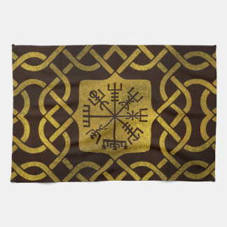 Vegvisir - Viking  Navigation Compass Kitchen Towel