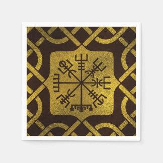 Vegvisir - Viking  Navigation Compass Paper Napkin