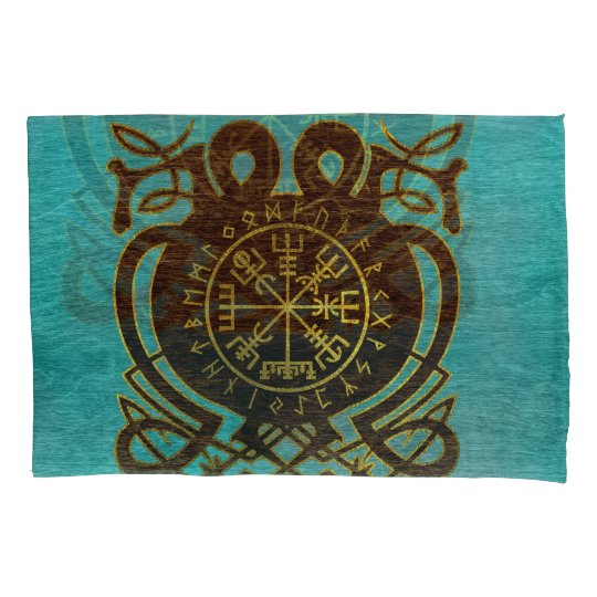 Vegvisir - Viking  Navigation Compass Pillowcase