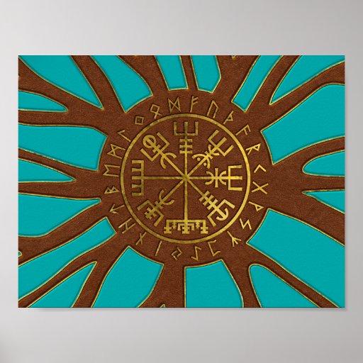 Vegvisir - Viking  Navigation Compass Poster