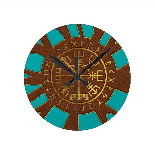 Vegvisir - Viking  Navigation Compass Round Clock