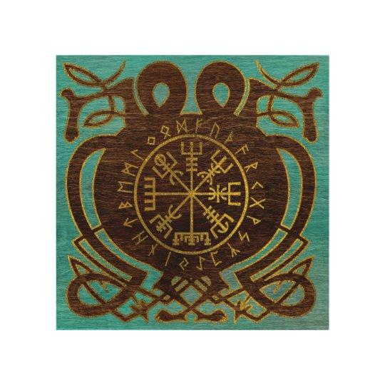 Vegvisir - Viking  Navigation Compass Wood Wall Art