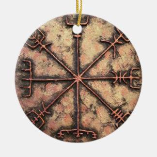 Vegvisir, Viking rune , Rune spell Ceramic Ornament