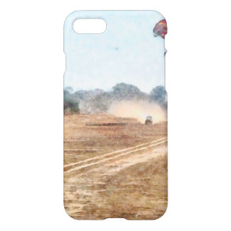 Vehicle and parasailing over land iPhone 7 case