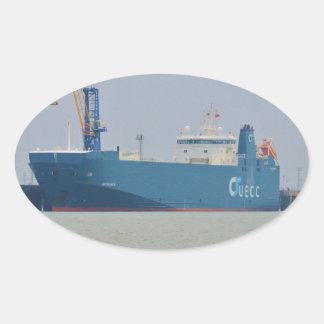Vehicle Carrier Autorunner Oval Sticker