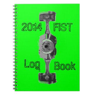 Vehicle maintenance log book spiral notebook