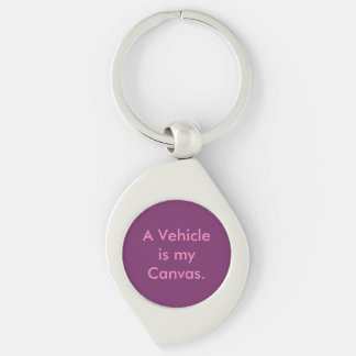 Vehicle Repair Car Painter Silver-Colored Swirl Keychain