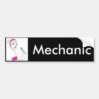 Vehicle Repair Female Mechanic Bumper Sticker