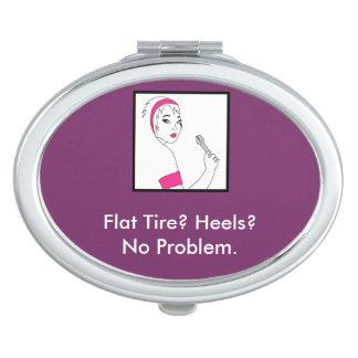 Vehicle Repair Flat Tire Mirror For Makeup