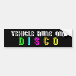 Vehicle Runs on DISCO Bumper Sticker