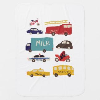Vehicles Swaddle Blanket