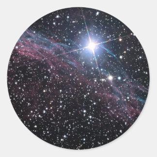 Veil Nebula Round Sticker
