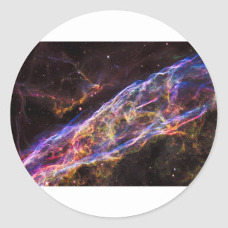 Veil Nebula Supernova Remnant Classic Round Sticker