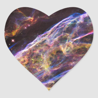Veil Nebula Supernova Remnant Heart Sticker