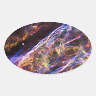 Veil Nebula Supernova Remnant Oval Sticker