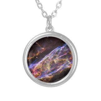 Veil Nebula Supernova Remnant Silver Plated Necklace