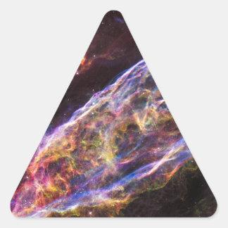 Veil Nebula Supernova Remnant Triangle Sticker