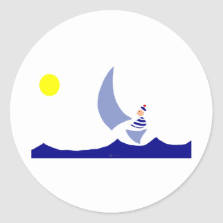Vela Round Sticker
