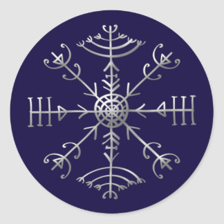 Veldismagn, Iceland, Protection, Rune, Magic Classic Round Sticker