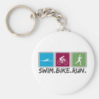 vélo de bain couru (triathlon) porte-clefs