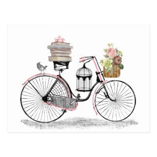 Vélo de poussée d'imaginaire cartes postales