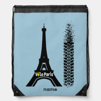 Velo Paris Bicycle Eiffel Tower Backpacks