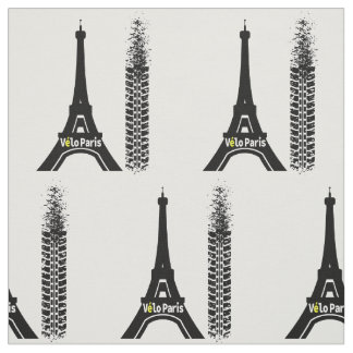Velo Paris Bike Eiffel Tower Fabric