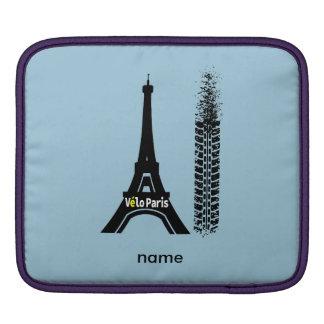 Velo Paris Bike Eiffel Tower Sleeve For iPads
