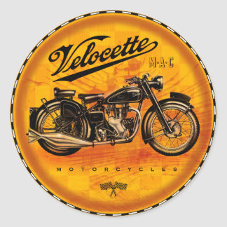 velocette Motorcycles Classic Round Sticker