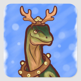 Veloci-reindeer Square Sticker
