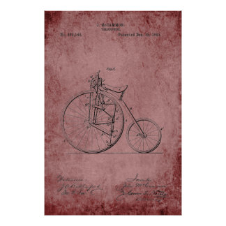 Velocipede Blueprint Poster