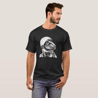 Velociraptor Astronaut Funny Dinosaur Tee Shirt