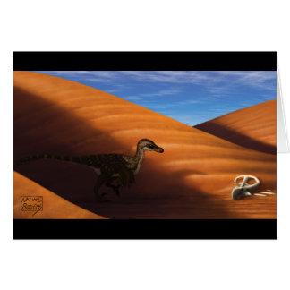 Velociraptor Blank Card