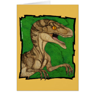 Velociraptor de cru de style de film carte de vœux