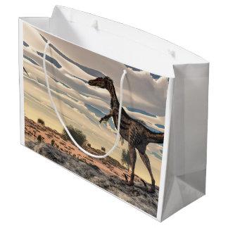 Velociraptor dinosaur - 3D render Large Gift Bag