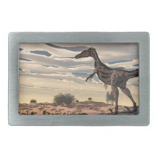 Velociraptor dinosaur - 3D render Rectangular Belt Buckles
