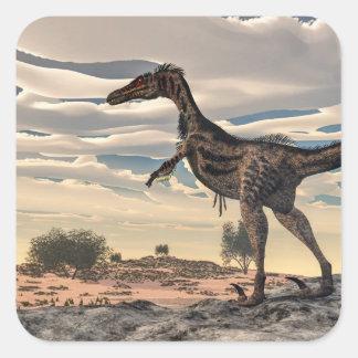 Velociraptor dinosaur - 3D render Square Sticker