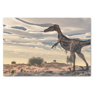 Velociraptor dinosaur - 3D render Tissue Paper