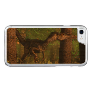 Velociraptor dinosaur in the forest carved iPhone 8/7 case