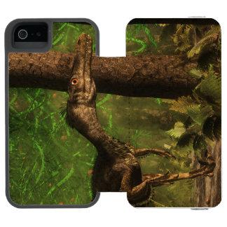 Velociraptor dinosaur in the forest incipio watson™ iPhone 5 wallet case