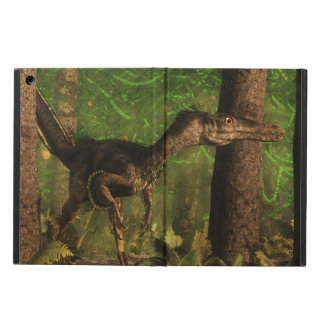 Velociraptor dinosaur in the forest iPad air cover