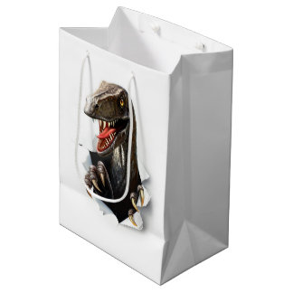 Velociraptor Dinosaur Medium Gift Bag
