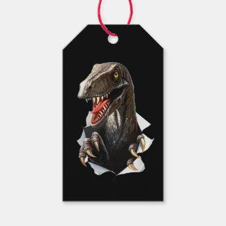Velociraptor Dinosaur Pack Of Gift Tags