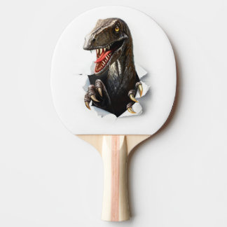 Velociraptor Dinosaur Ping Pong Paddle