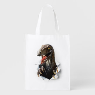 Velociraptor Dinosaur Reusable Grocery Bag