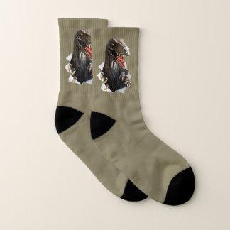 Velociraptor Dinosaur Small All-Over-Print Socks
