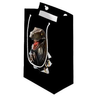 Velociraptor Dinosaur Small Gift Bag