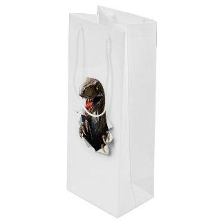 Velociraptor Dinosaur Wine Gift Bag